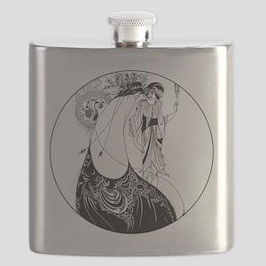Art Nouveau Beardsley Peacock Skirt Flask