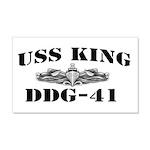 USS KING 20x12 Wall Decal