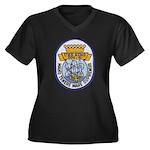 USS KING Women's Plus Size V-Neck Dark T-Shirt
