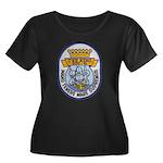 USS KING Women's Plus Size Scoop Neck Dark T-Shirt