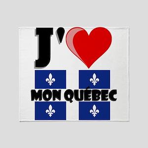 J'aime Mon Quebec Throw Blanket