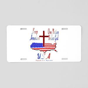 Al B. Myson Aluminum License Plate