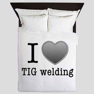 I love TIG welding Queen Duvet