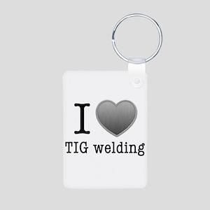 I love TIG welding Keychains