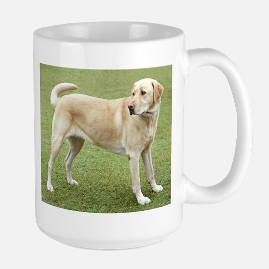 3 full yellow lab Mugs
