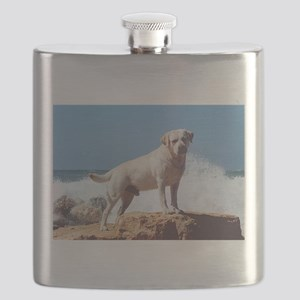 5 full yellow lab Flask