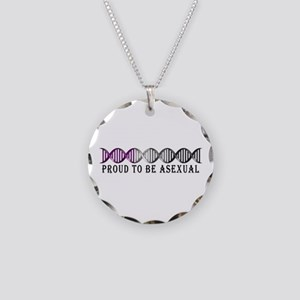 Asexual Pride DNA Necklace Circle Charm