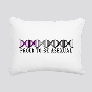 Asexual Pride DNA Rectangular Canvas Pillow