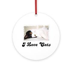 I LOVE CATS Ornament (Round)