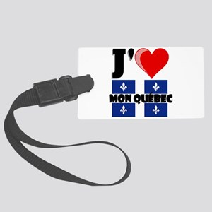 J'aime mon Quebec Large Luggage Tag