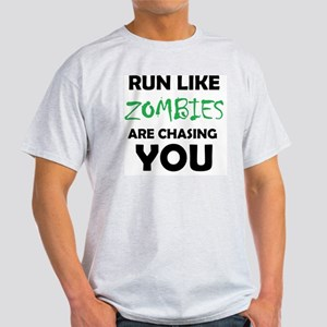 Run Like Zombies are Chasing You Light T-Shirt