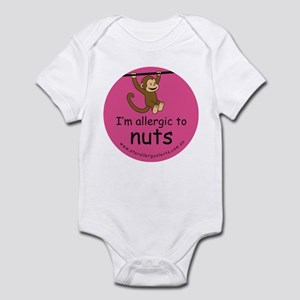 I'm allergic to nuts-pink Infant Bodysuit