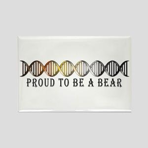 Gay Bear Pride DNA Rectangle Magnet