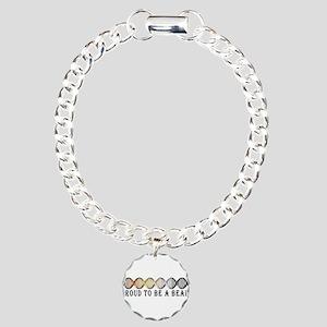 Gay Bear Pride DNA Charm Bracelet, One Charm