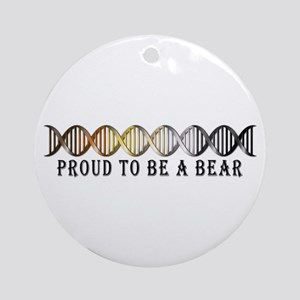 Gay Bear Pride DNA Ornament (Round)