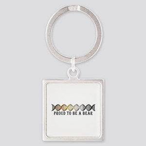 Gay Bear Pride DNA Square Keychain