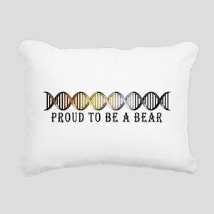 Gay Bear Pride DNA Rectangular Canvas Pillow