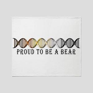 Gay Bear Pride DNA Throw Blanket