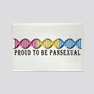 Pansexual Pride DNA Rectangle Magnet