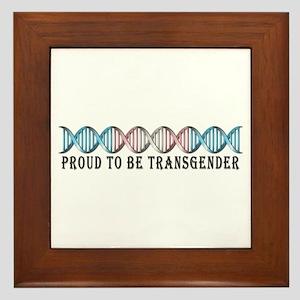 Transgender Pride DNA Framed Tile