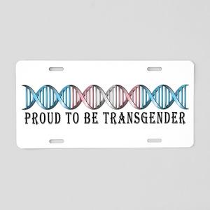 Transgender Pride DNA Aluminum License Plate
