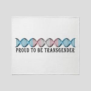 Transgender Pride DNA Throw Blanket