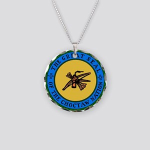 Great Seal Of The Choctaw Necklace Circle Charm