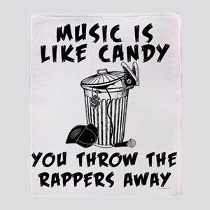 Music is Like Candy Throw Blanket