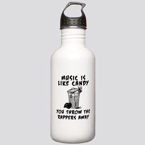 Music is Like Candy Water Bottle