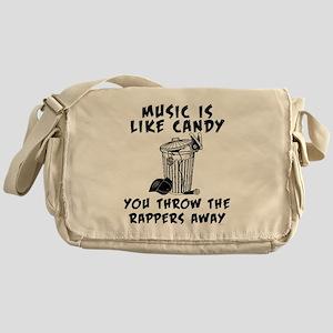 Music is Like Candy Messenger Bag