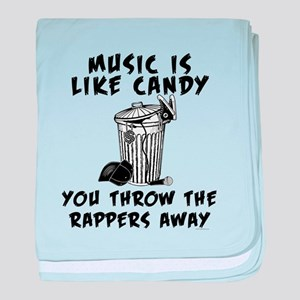 Music is Like Candy baby blanket