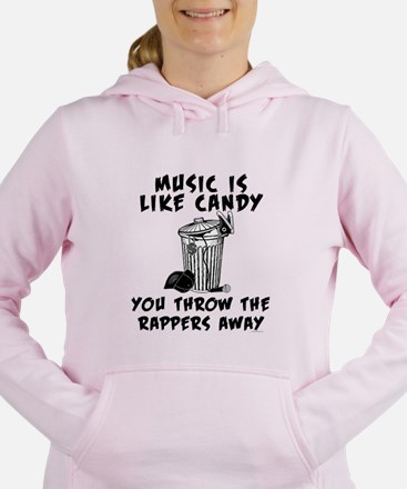 Music is Like Candy Women's Hooded Sweatshirt
