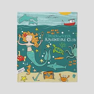 Mermaid 3 Throw Blanket
