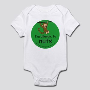 I'm allergic to nuts-green Infant Bodysuit