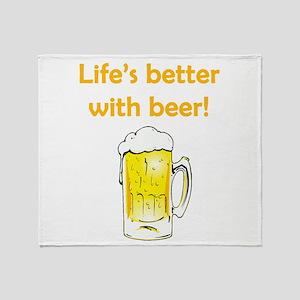 Better With Beer Throw Blanket