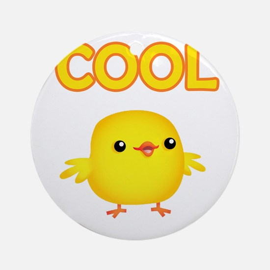Cool Chick Ornament (Round)