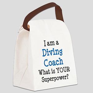diving coach Canvas Lunch Bag