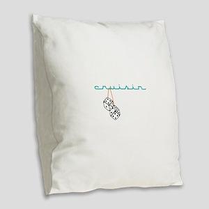 Cruisin Burlap Throw Pillow