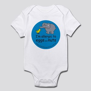 I'm allergic to eggs and nuts Infant Bodysuit