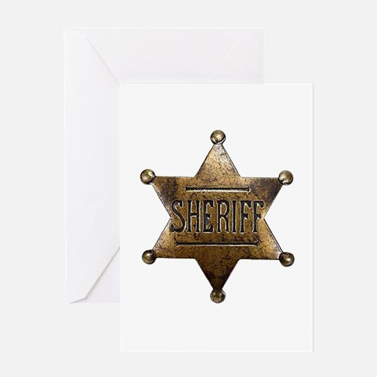 Sheriff Badge Greeting Cards