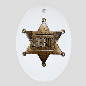 Sheriff Badge Ornament (Oval)