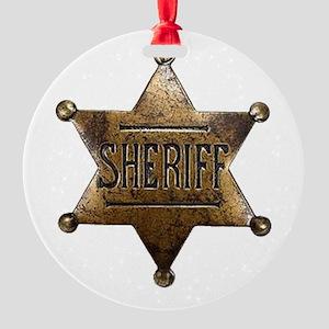 Sheriff Badge Ornament