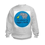 I'm allergic to eggs and nuts Kids Sweatshirt