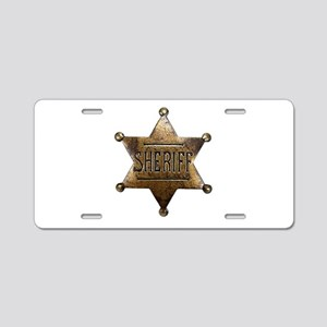 Sheriff Badge Aluminum License Plate