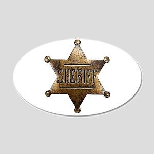 Sheriff Badge Wall Decal