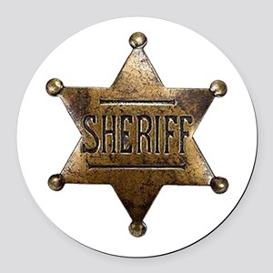 Sheriff Badge Round Car Magnet