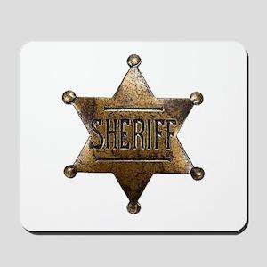 Sheriff Badge Mousepad