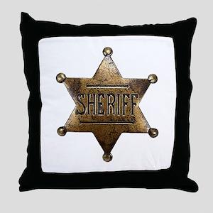 Sheriff Badge Throw Pillow