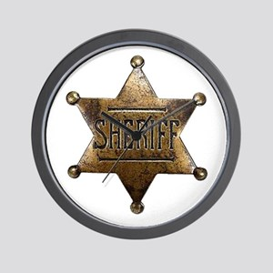 Sheriff Badge Wall Clock