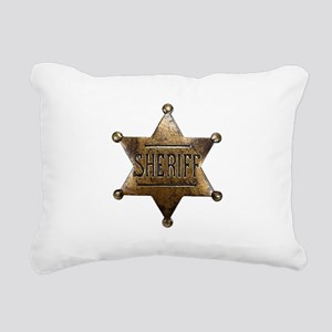 Sheriff Badge Rectangular Canvas Pillow